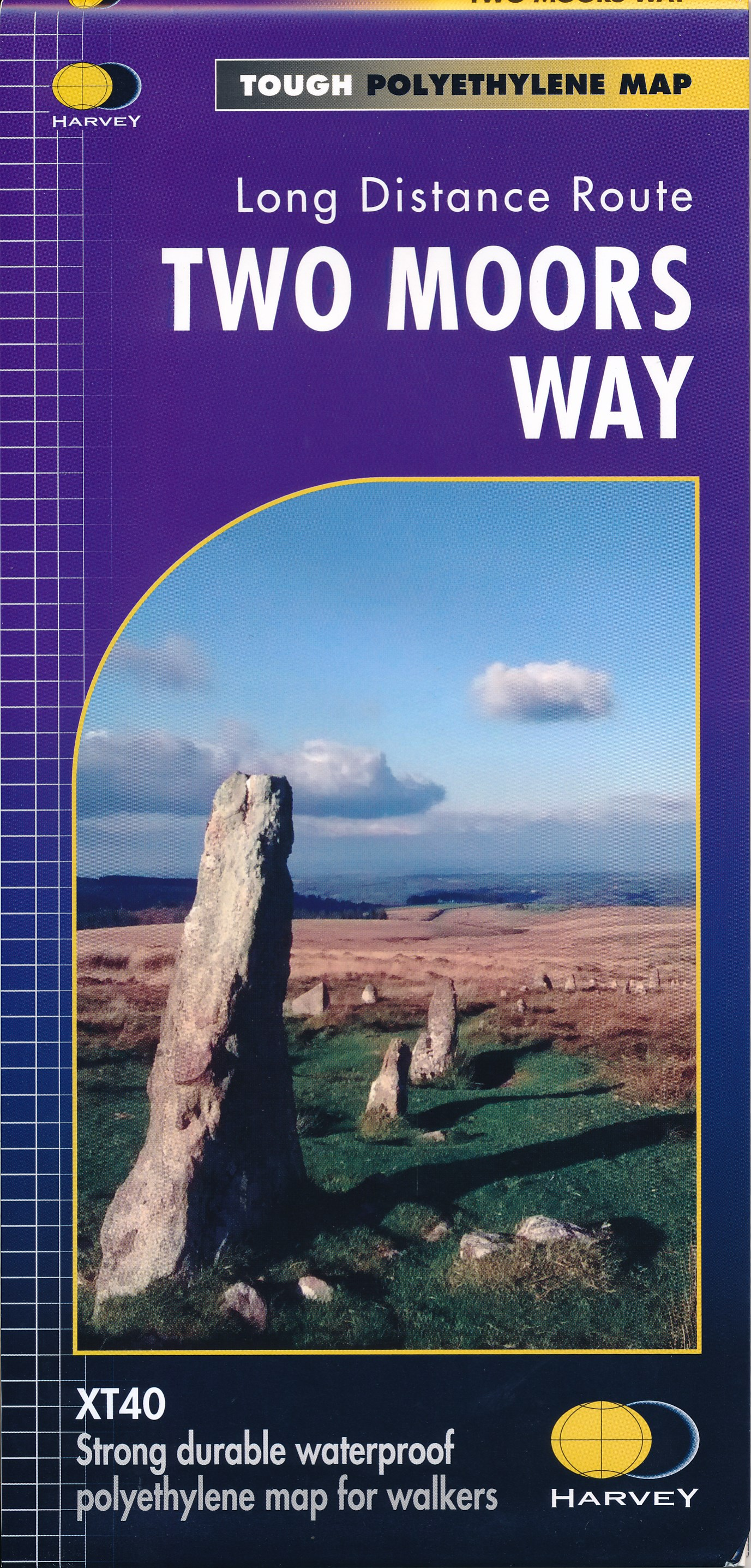 Wandelkaart Two Moors Way | Harvey Maps