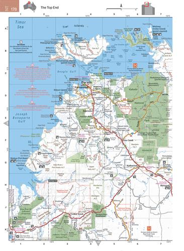 Australia Atlas Map.Wegenatlas Australia Road En 4wd Atlas Australie Hema Maps