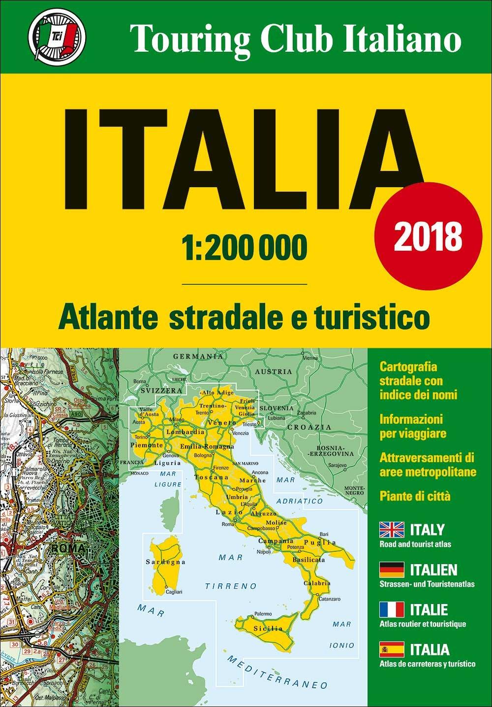 Wegenatlas Italia 2018 - Italië | TCI