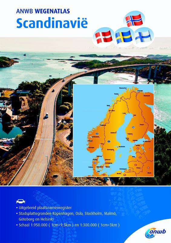 Wegenatlas Scandinavië | ANWB Media