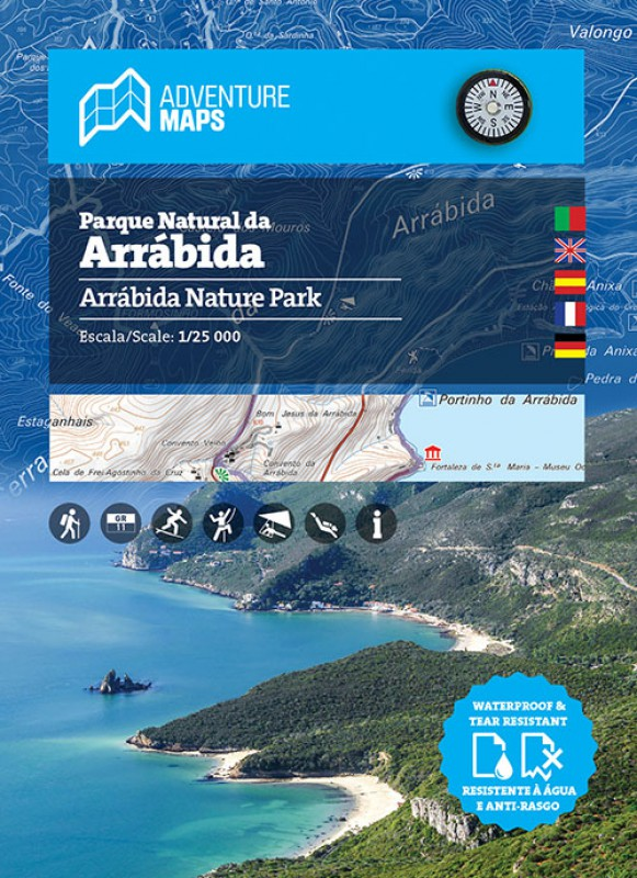Wandelkaart Parque Natural da Arrábida | Adventure MAPS