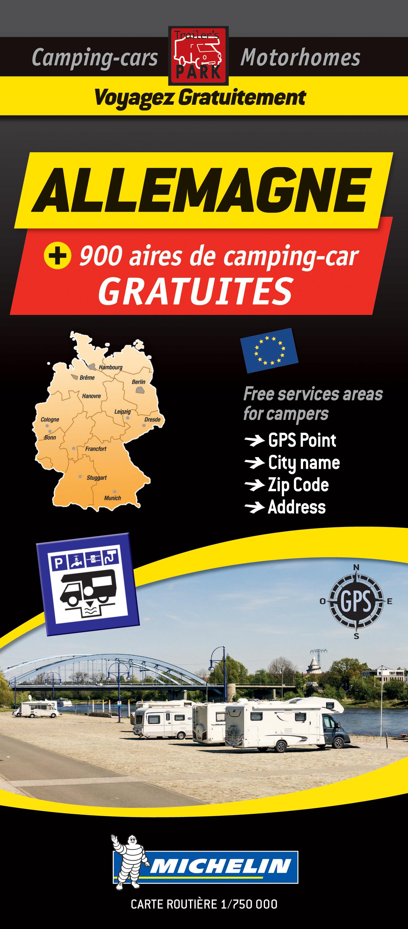 Camperkaart - Wegenkaart - landkaart Duitsland | Michelin