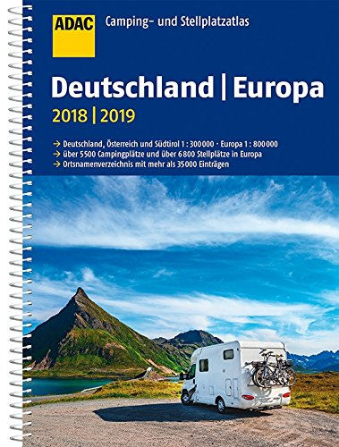 Wegenatlas - Campergids - Campinggids Camping- und Stellplatzatlas Deutschland - Europa | ADAC