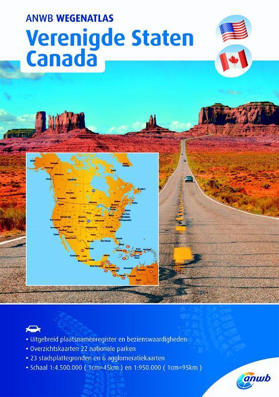 Wegenatlas Verenigde Staten en Canada | ANWB Media