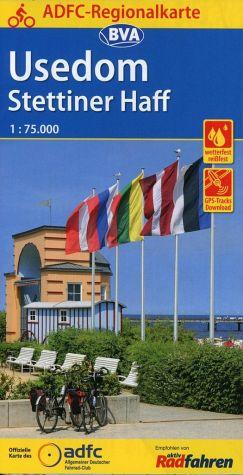 Fietskaart ADFC Regionalkarte Usedom - Settiner Haff | BVA