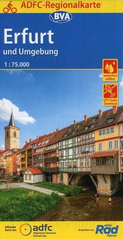 Fietskaart ADFC Regionalkarte Erfurt und Umgebung | BVA