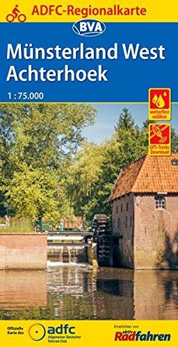 Fietskaart ADFC Regionalkarte Münsterland west - Achterhoek | BVA