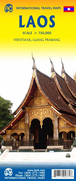 Wegenkaart - landkaart Laos | ITMB