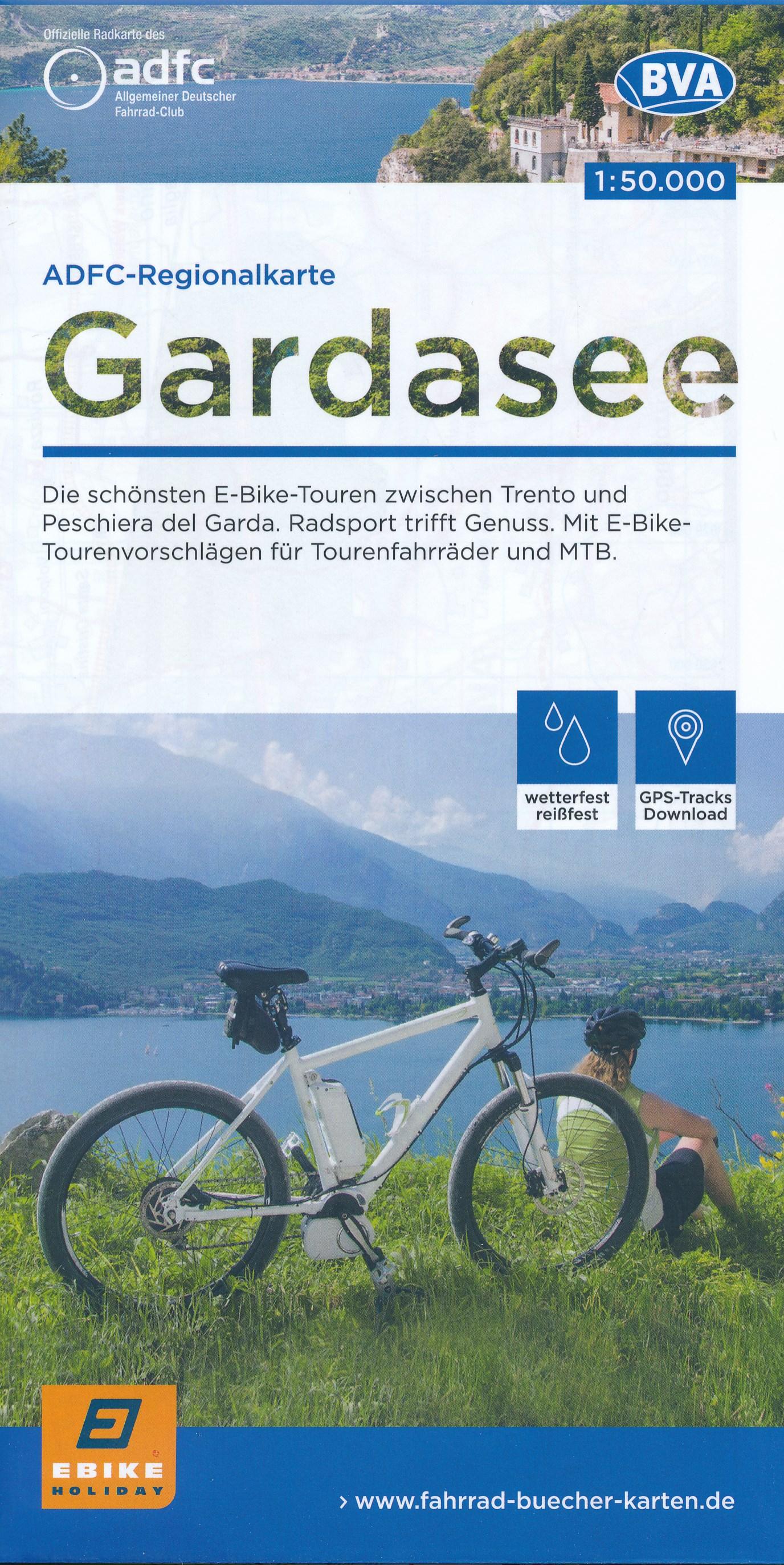 Fietskaart ADFC Regionalkarte Gardasee - ebike | BVA
