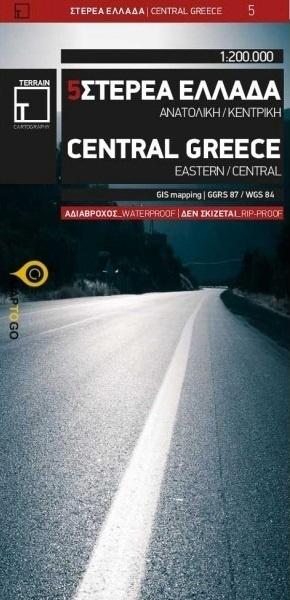 Wegenkaart - landkaart - Fietskaart 5 Touring Map Central Greece - Centraal Griekenland | Terrain maps