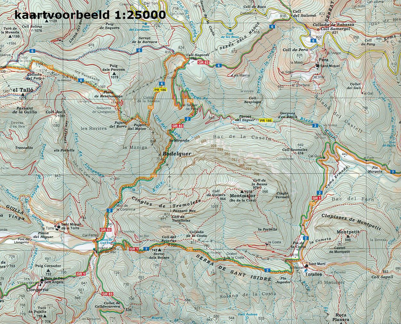 Wandelkaart 29 Puigpedros Editorial Alpina 9788480907361 Reisboekwinkel De Zwerver