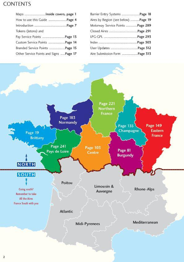Map Of France North.Campergids All The Aires France North Vicarious Books