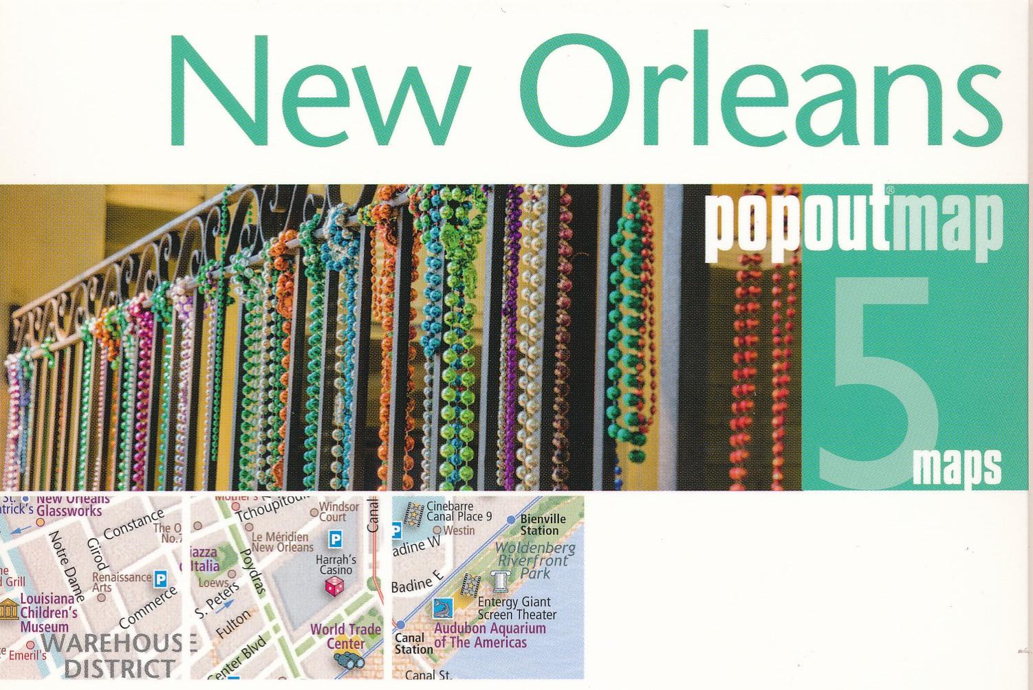 Stadsplattegrond Popout Map New Orleans | Compass Maps de zwerver
