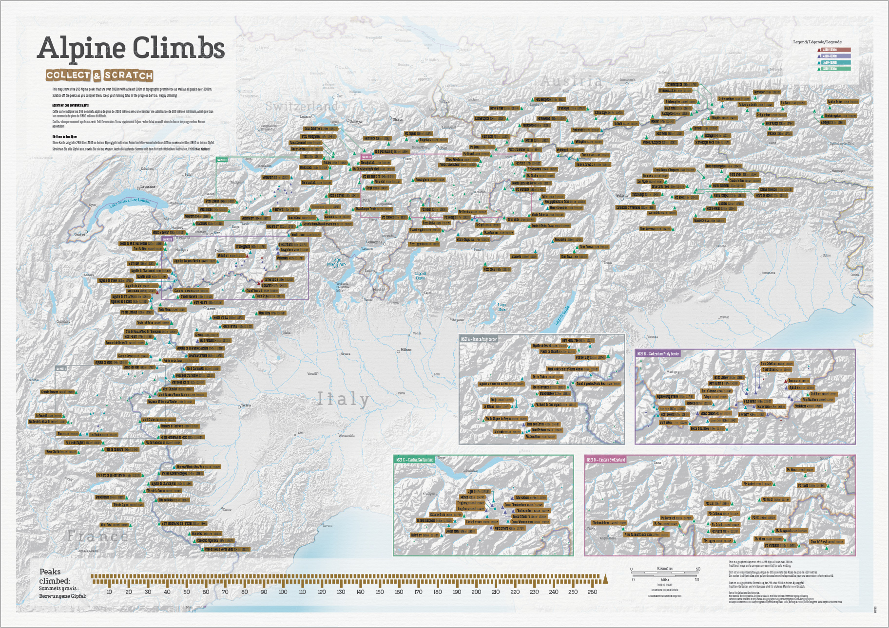 Alpine Climbs - Beklimmingen in de Alpen Collect & Scratch | Maps International