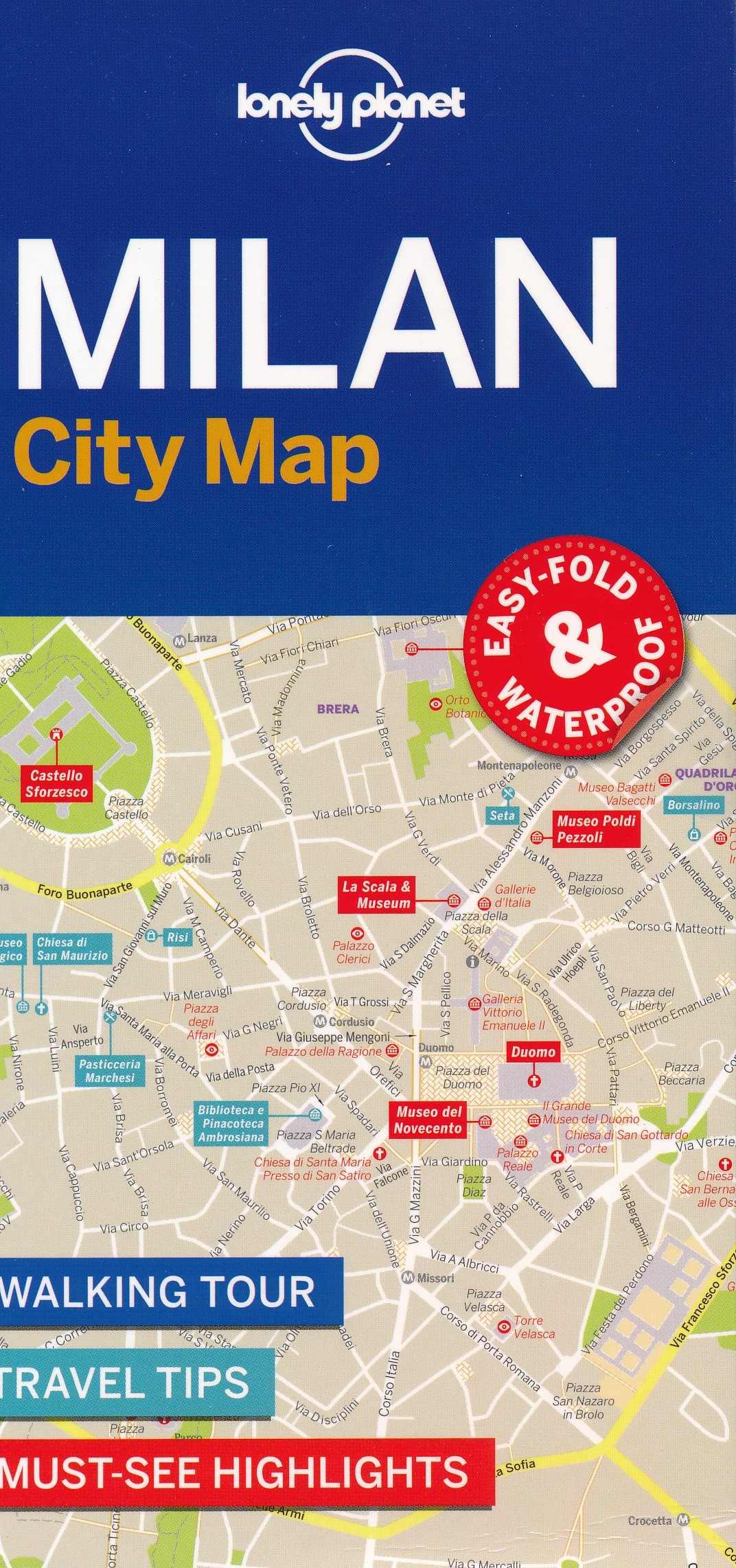 Stadsplattegrond City map Milan - Milaan | Lonely Planet