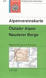Alpenvereinskarte 304OTztaler Alpen Nauderer Berge Wandelkaart Oostenrijk kopen