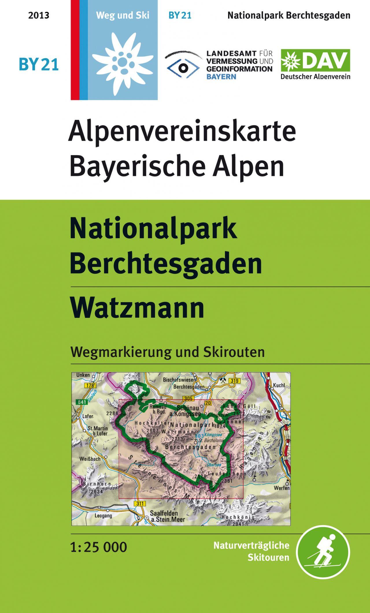 Wandelkaart BY21 Alpenvereinskarte Nationalpark Berchtesgaden - Watzmann | Alpenverein