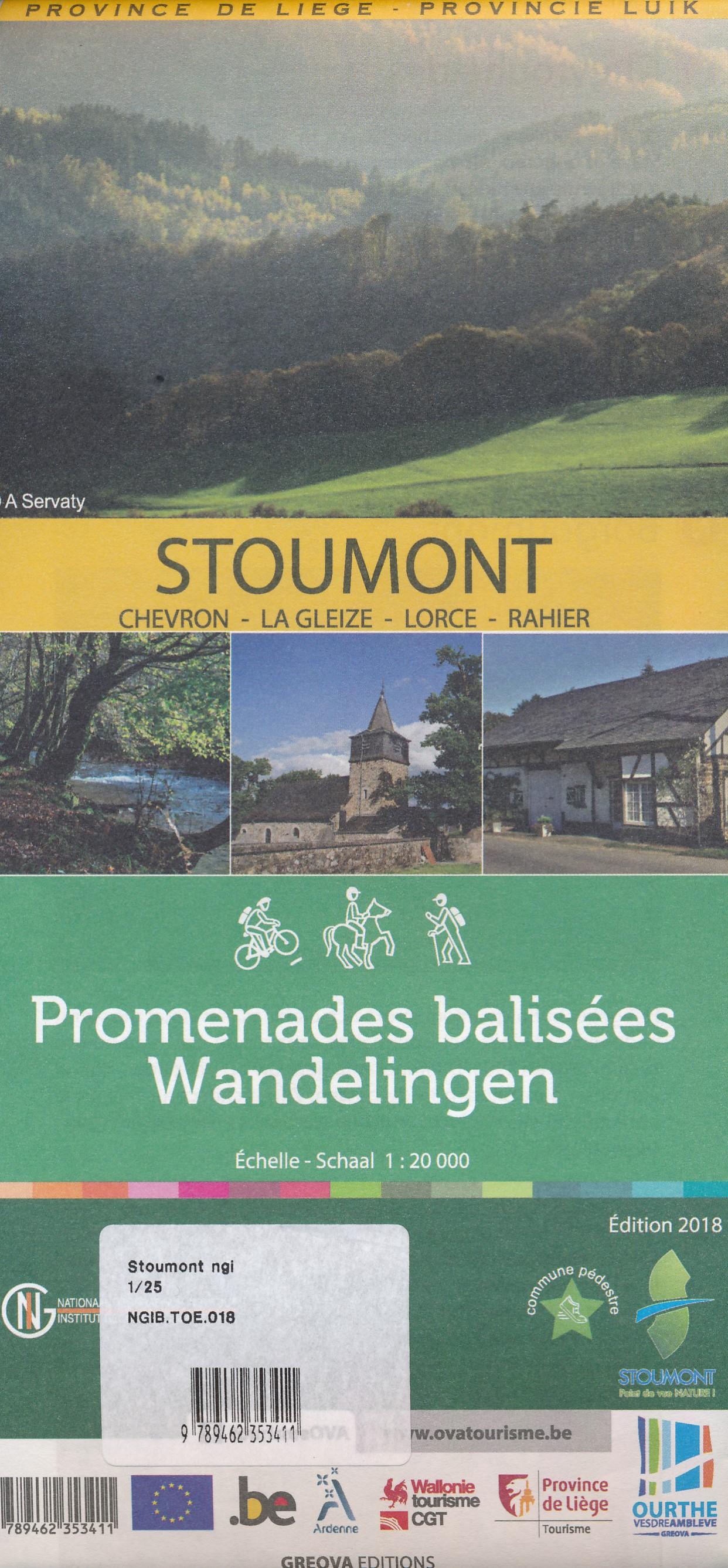 Wandelkaart Stoumont | NGI - Nationaal Geografisch Instituut de zwerver
