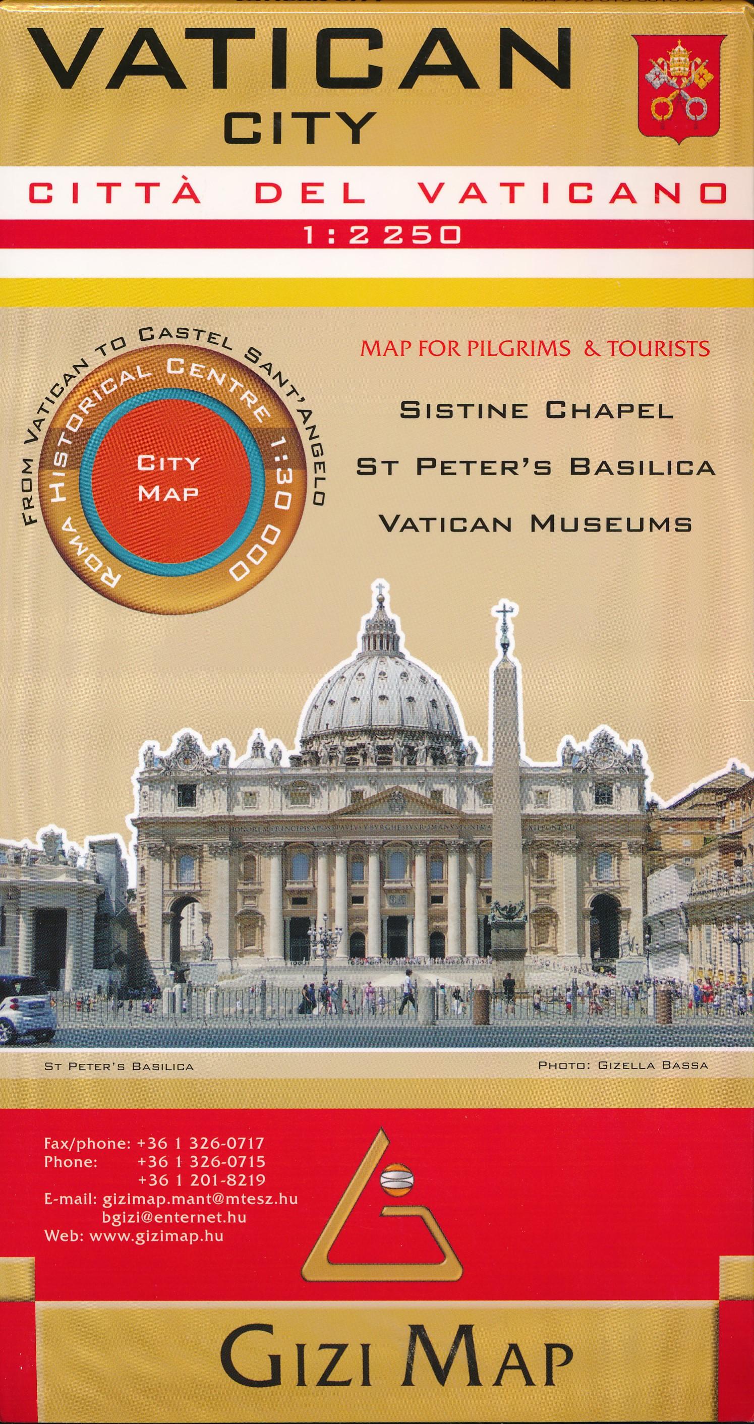Wegenkaart - landkaart - Wandelkaart Vaticaan stad | Gizi Map