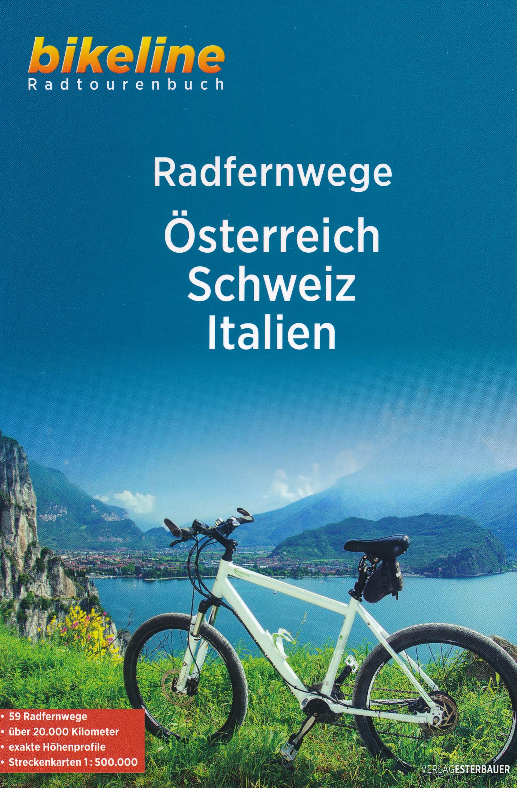 Fietsgids Bikeline Radfernwege Osterreich - Schweiz - Italien | Esterbauer