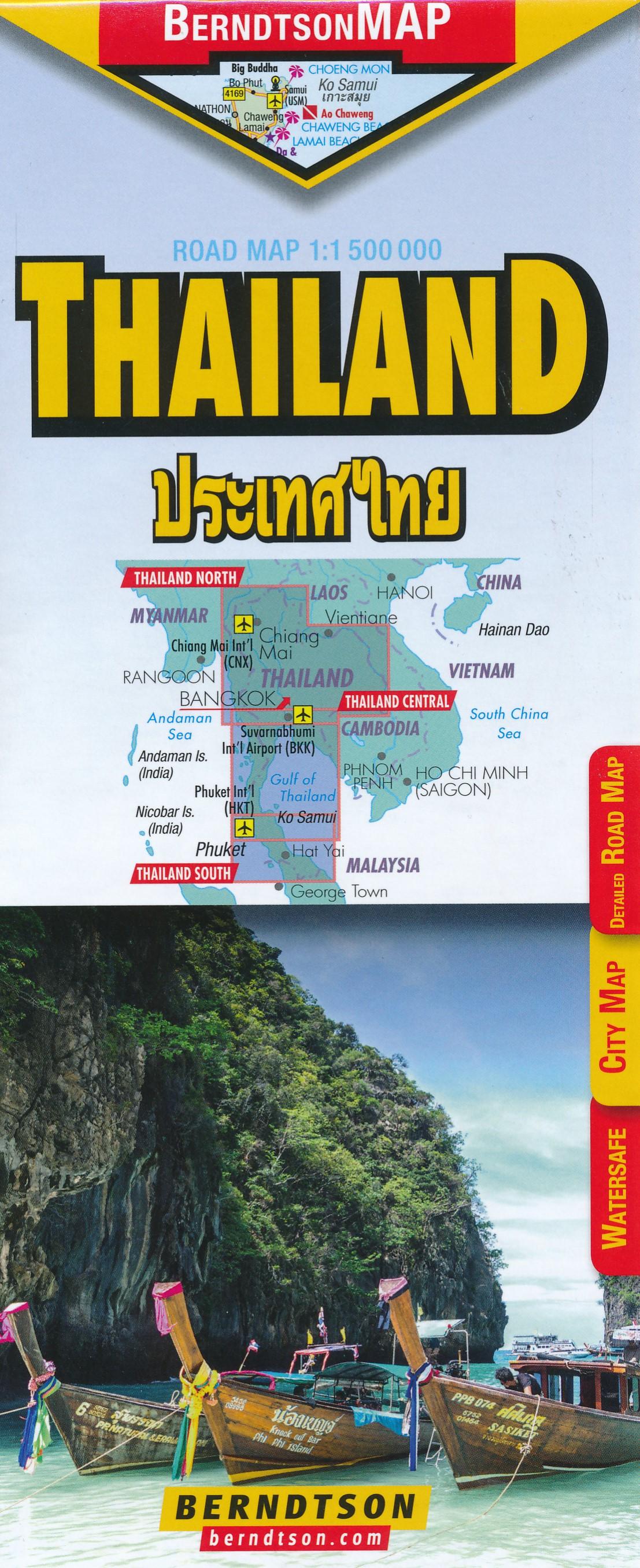 Wegenkaart - landkaart Thailand | Berndtson