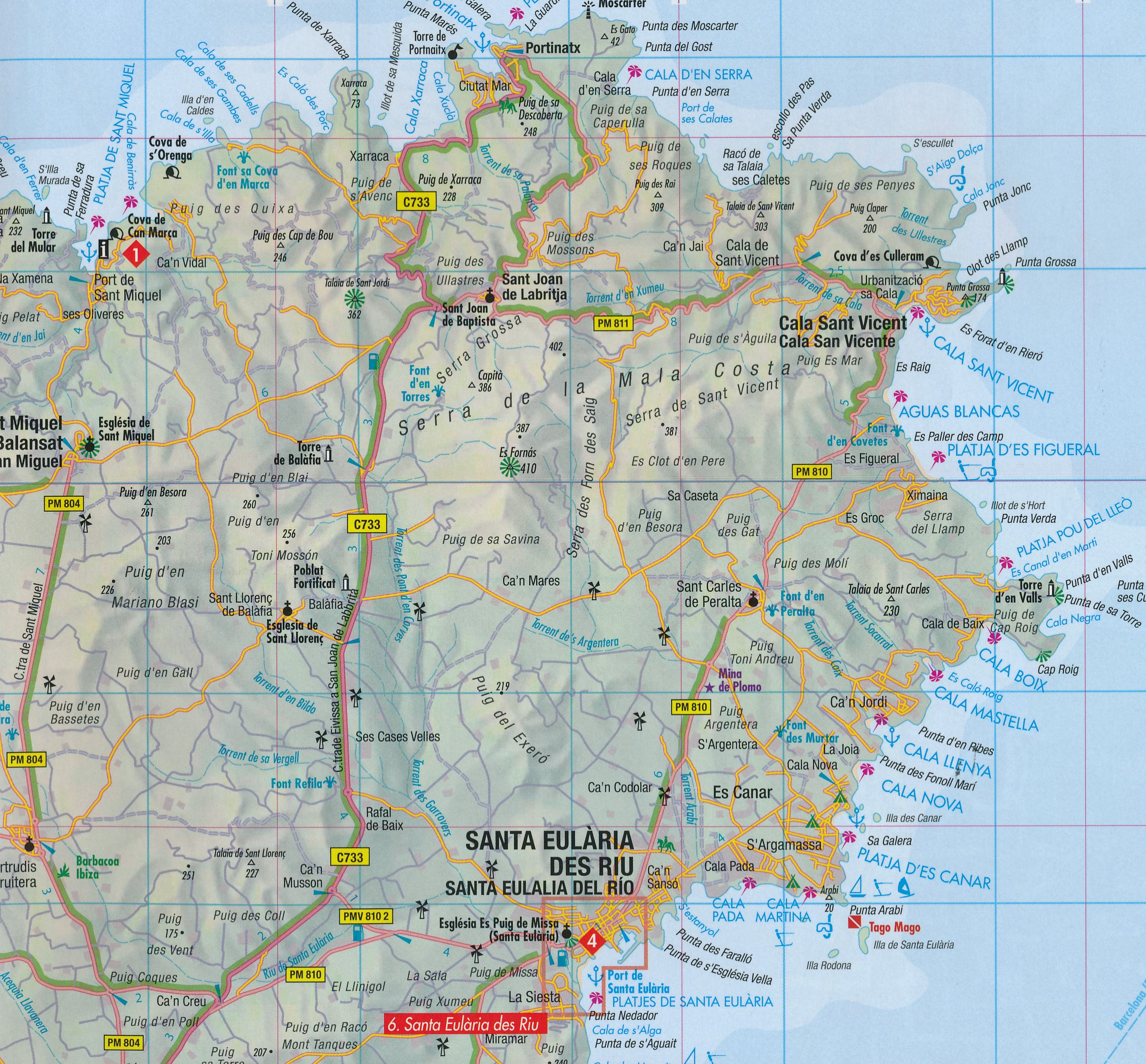 Wegenkaart Landkaart Ibiza Berndtson 9783865920218
