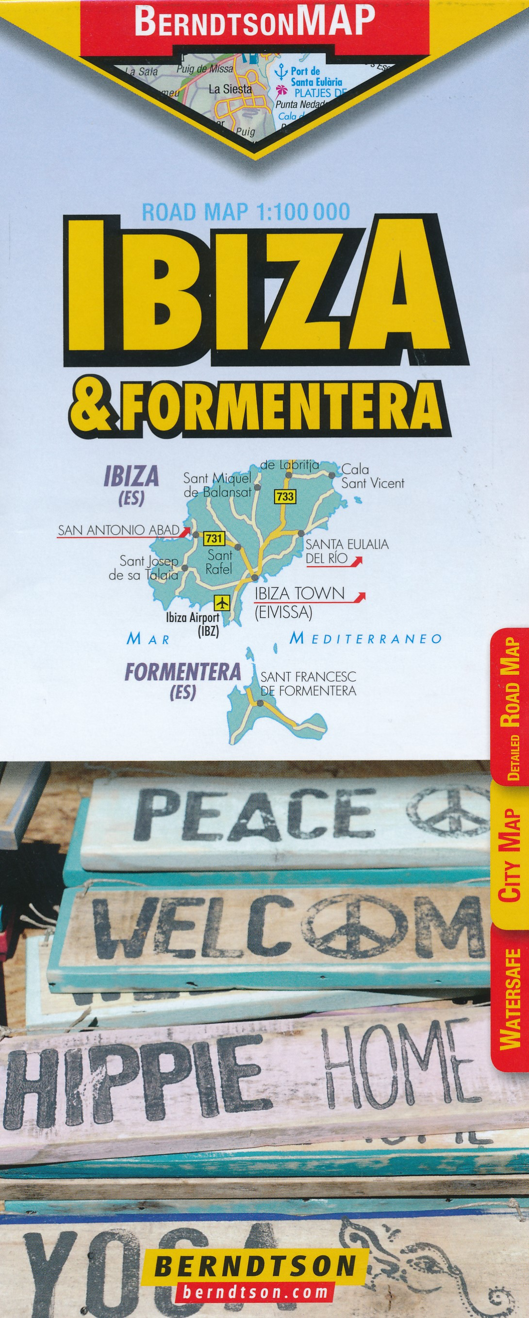Wegenkaart - landkaart Ibiza | Berndtson