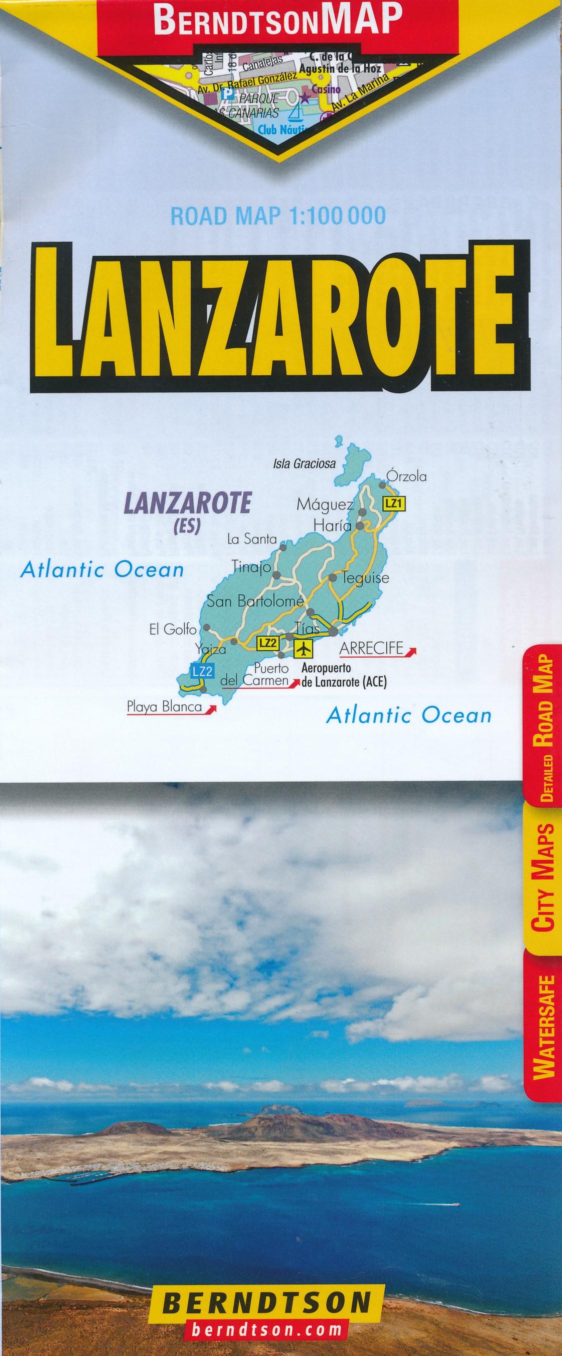 Wegenkaart - landkaart Lanzarote   Berndtson