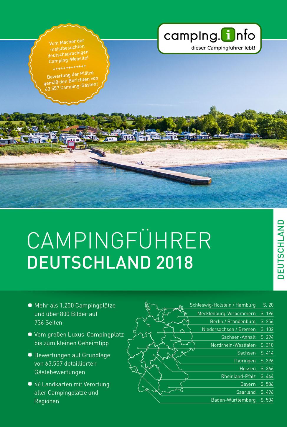Campinggids Campingführer Deutschland 2019 | camping.info