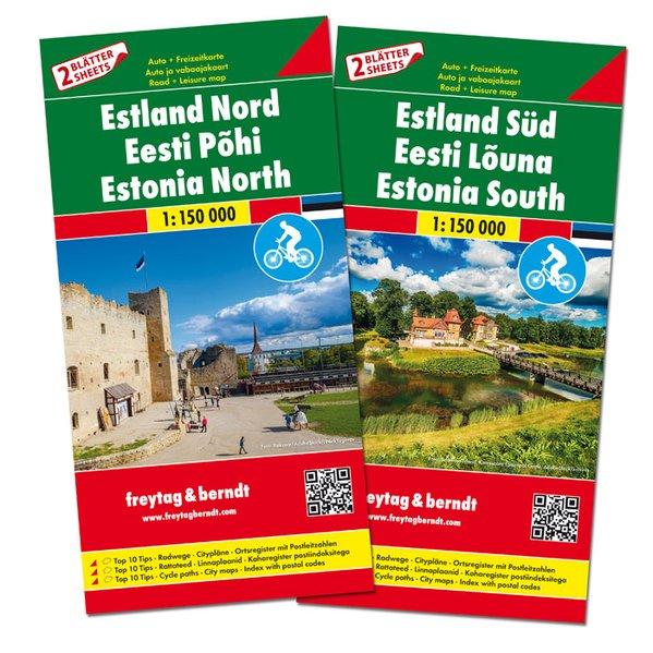 Fietskaart - Wegenkaart - landkaart Estland | Freytag & Berndt