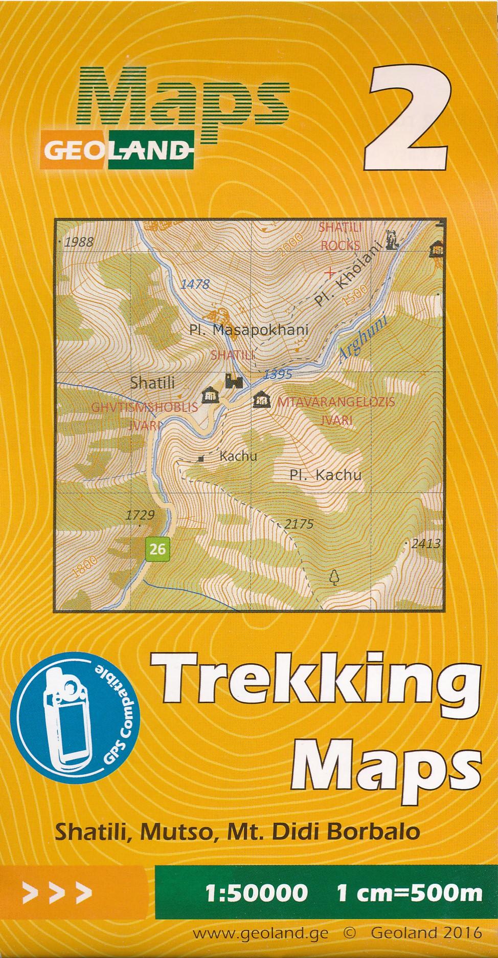 Wandelkaart - Topografische kaart 02 Shatili - Mutso - Mt. Didi Borbalo | Geoland
