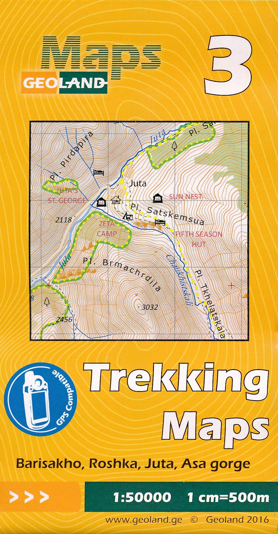 Wandelkaart - Topografische kaart 03 Barisakho - Roshka - Juta - Asa Gorge | Geoland