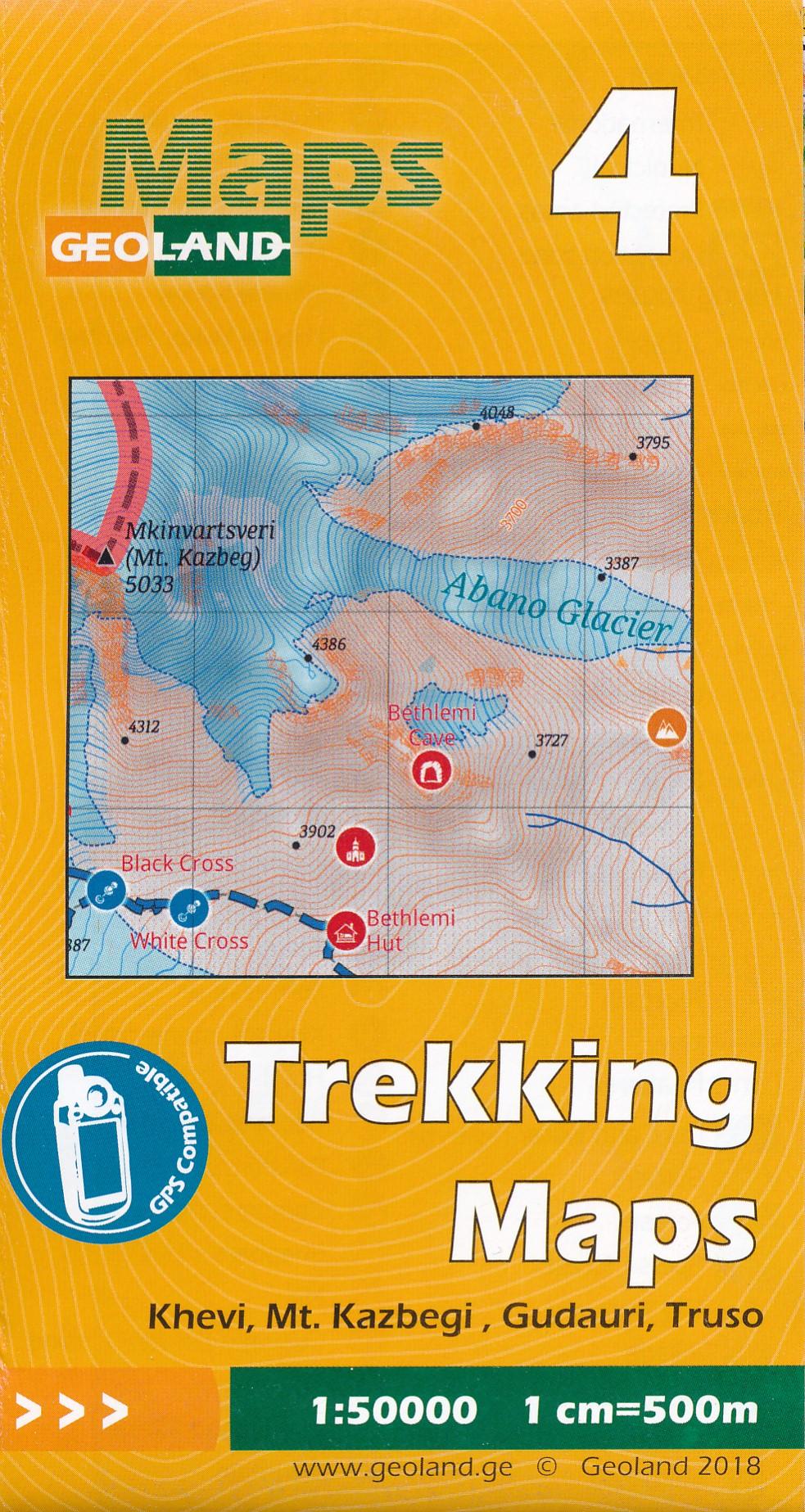 Wandelkaart - Topografische kaart 04 Khevi - Mt. Kazbegi - Gudauri - Truso | Geoland