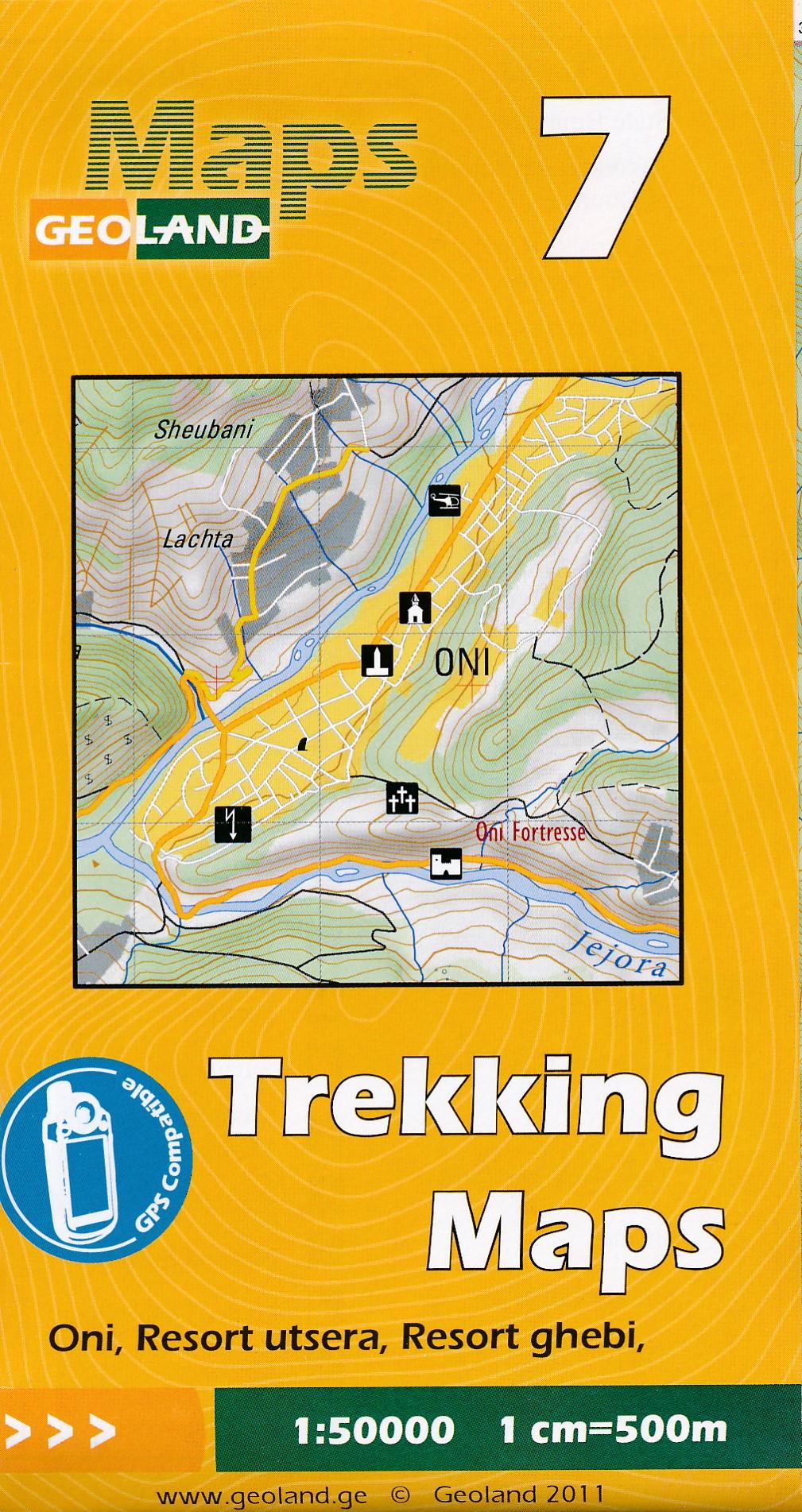Wandelkaart - Topografische kaart 07 Oni - Resort Utsera - Resort Ghebi | Geoland