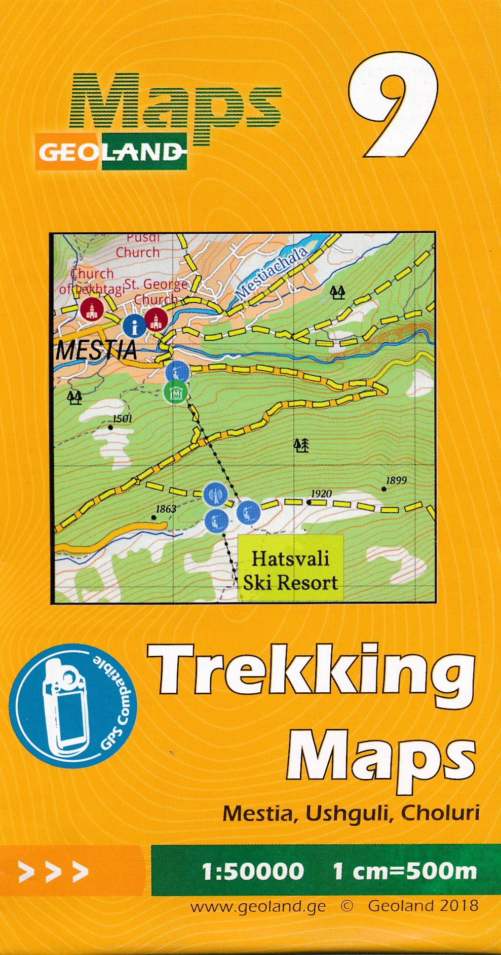 Wandelkaart - Topografische kaart 09 Mestia - Ushguli - Choluri | Geoland