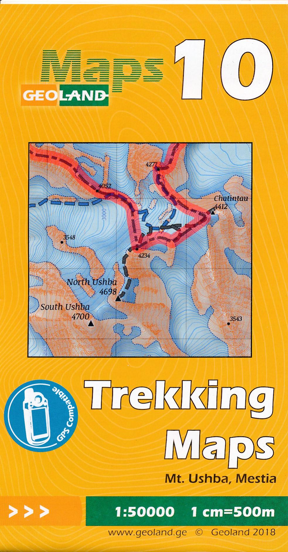 Wandelkaart - Topografische kaart 10 Mt. Ushba - Mestia | Geoland