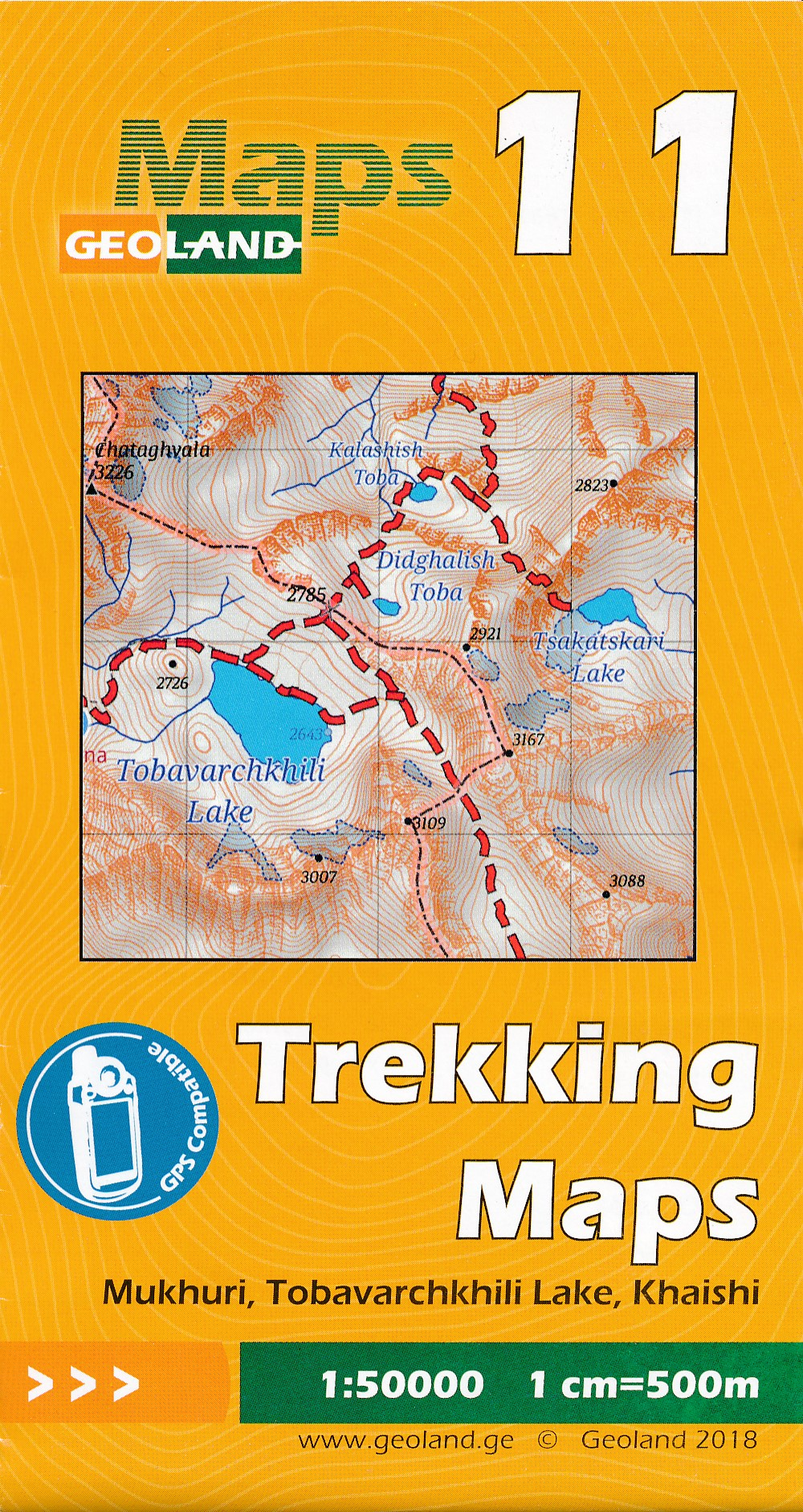 Wandelkaart - Topografische kaart 11 Mukhuri - Tobavarchkhili Lake - Khaishi | Geoland