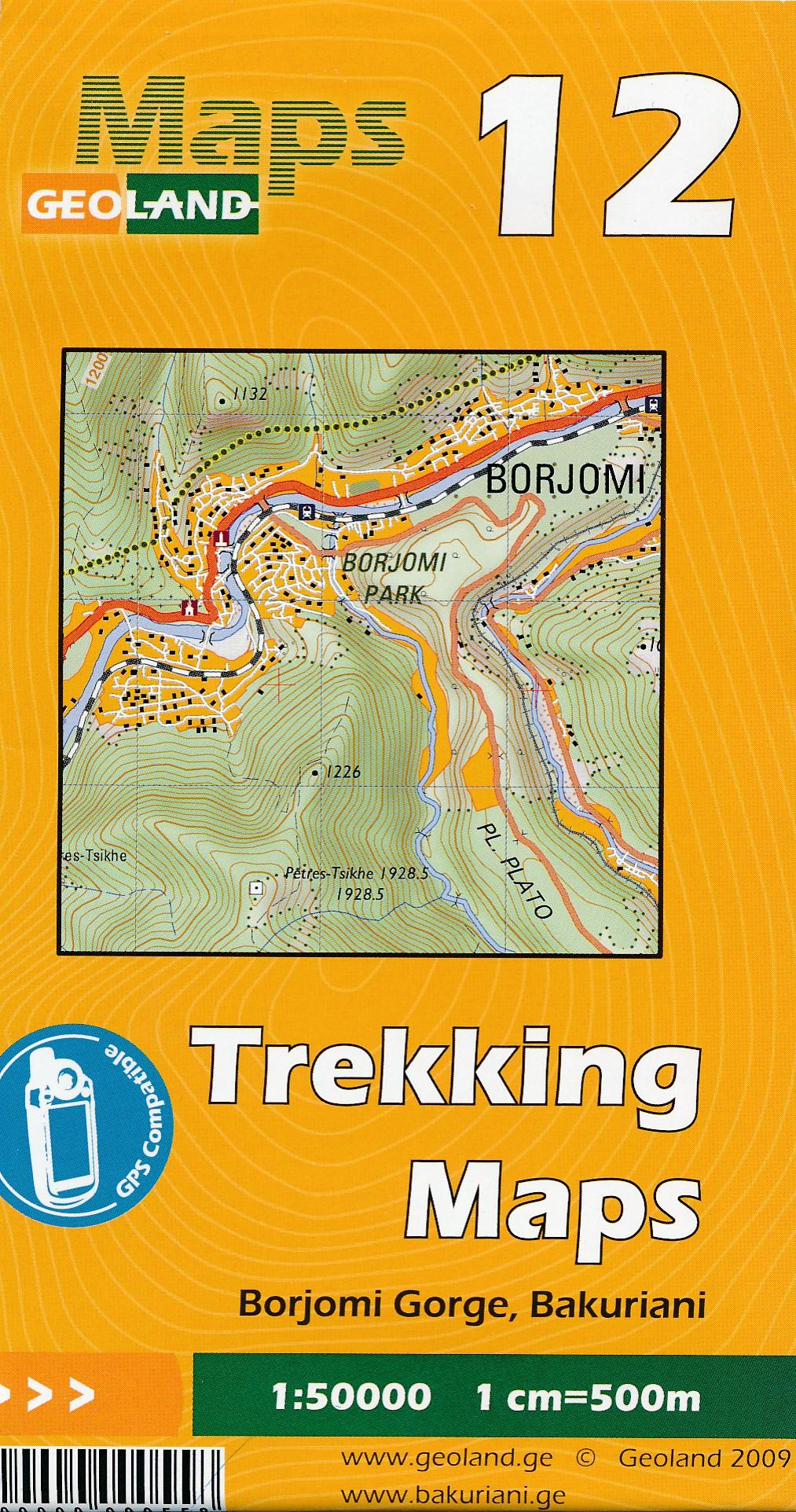 Wandelkaart - Topografische kaart 12 Borjomi Gorge - Bakuriani | Geoland