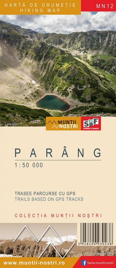 Wandelkaart MN12 Muntii Nostri Parang   Schubert - Franzke