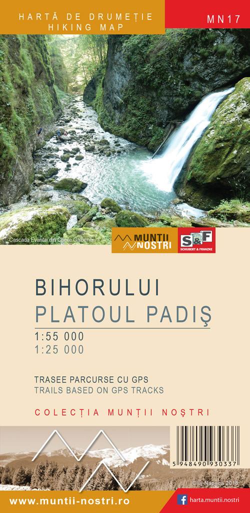 Wandelkaart MN17 Muntii Nostri Bihorului - Platoul Padis   Schubert - Franzke