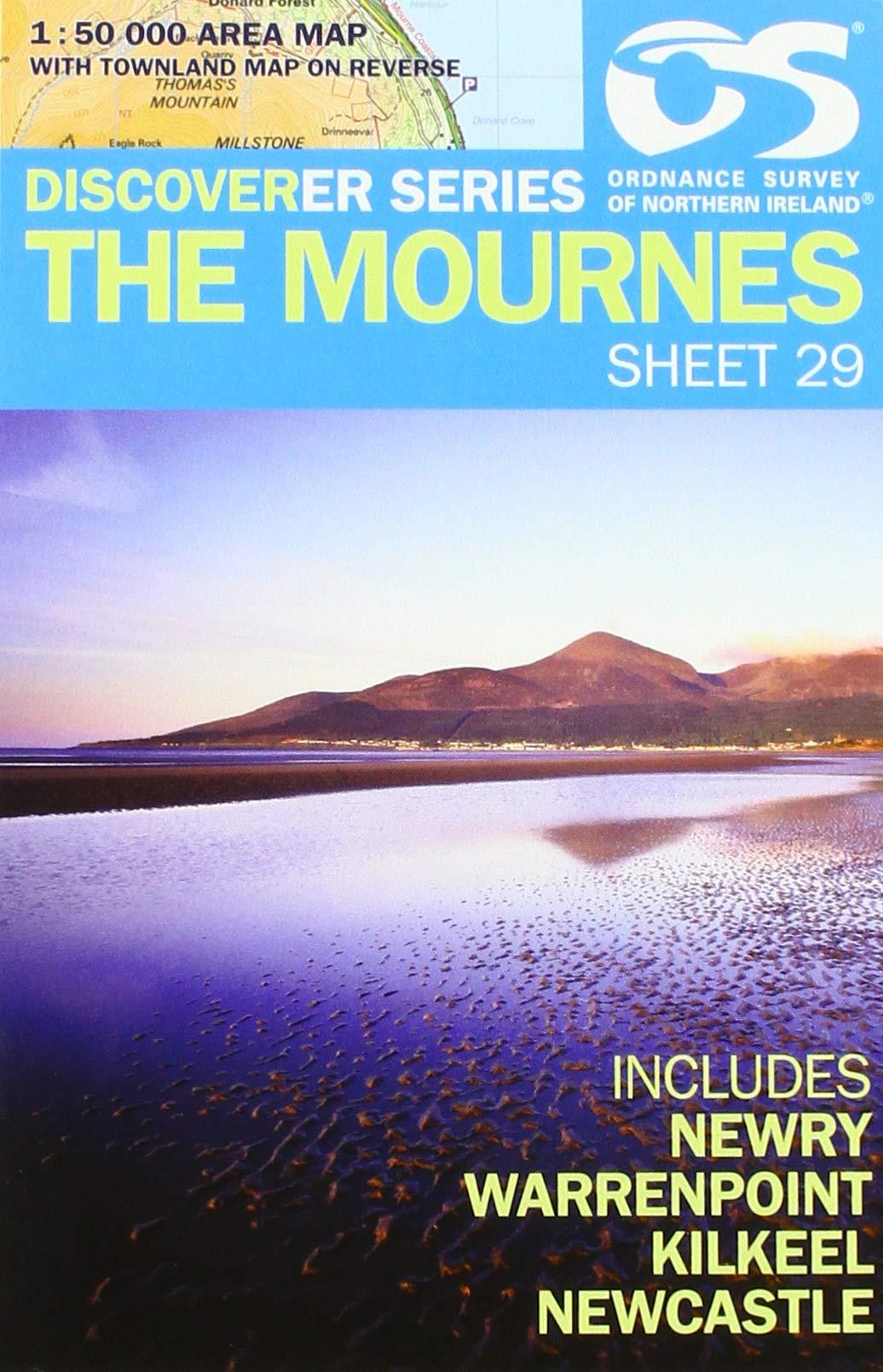 Wandelkaart 29 Discoverer The Mournes | Ordnance Survey Northern Ireland