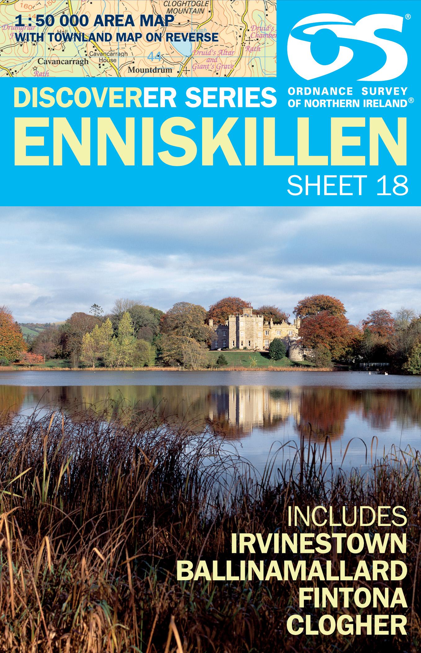 Wandelkaart 18 Discoverer Enniskillen | Ordnance Survey Northern Ireland