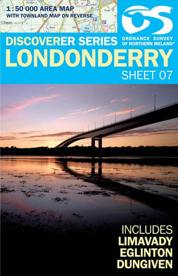 Wandelkaart 7 Discoverer Londonderry | Ordnance Survey Northern Ireland