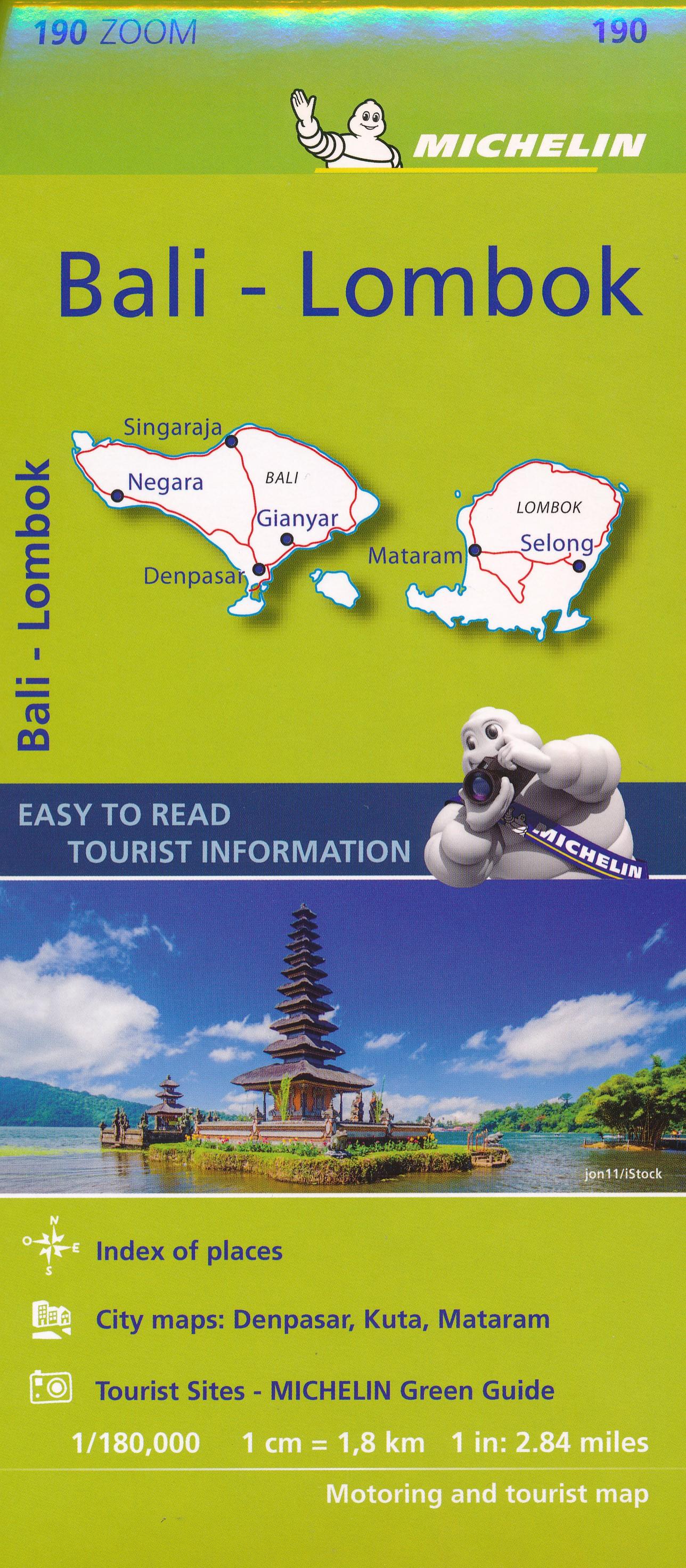 Wegenkaart - landkaart 190 zoom Bali - Lombok | Michelin