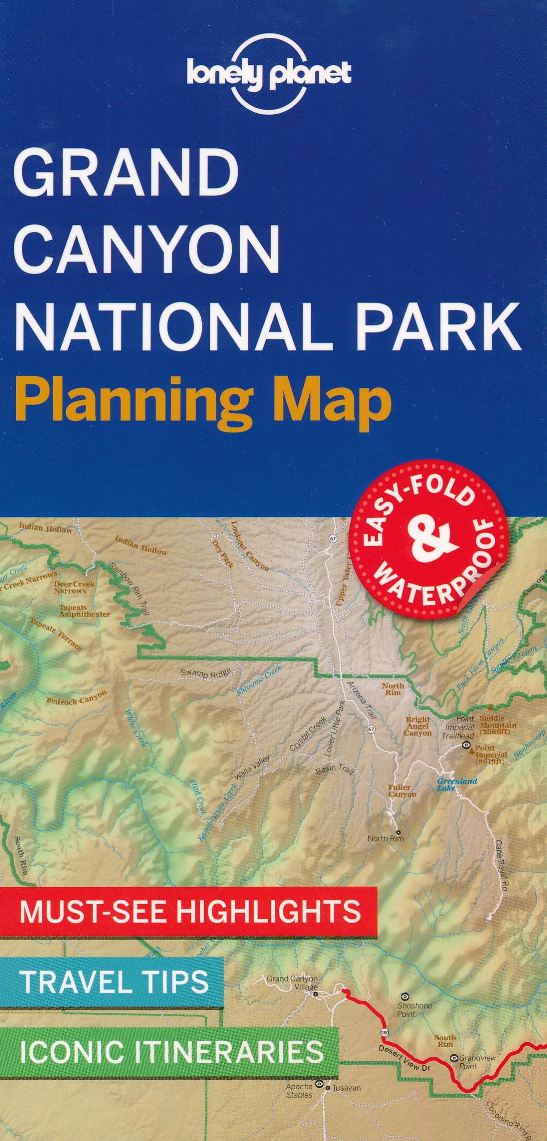 Wegenkaart - landkaart Planning Map Grand Canyon National Park | Lonely Planet