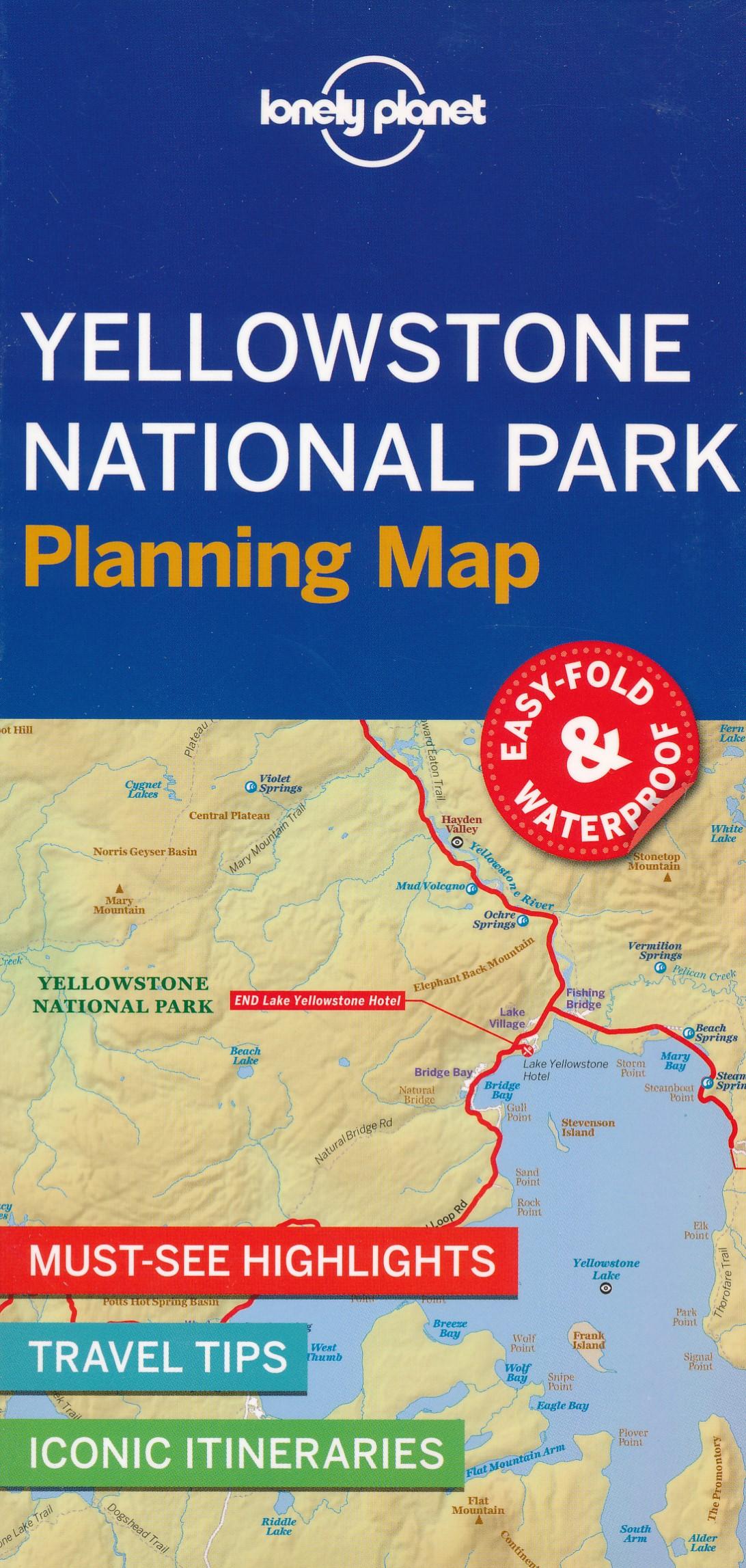 Wegenkaart - landkaart Planning Map Yellowstone National Park | Lonely Planet