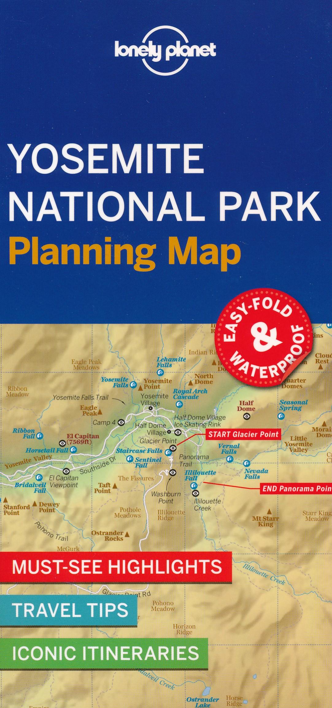 Wegenkaart - landkaart Planning Map Yosemite National Park | Lonely Planet