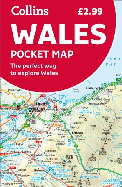 Wegenkaart - landkaart Wales pocket map | HarperCollins