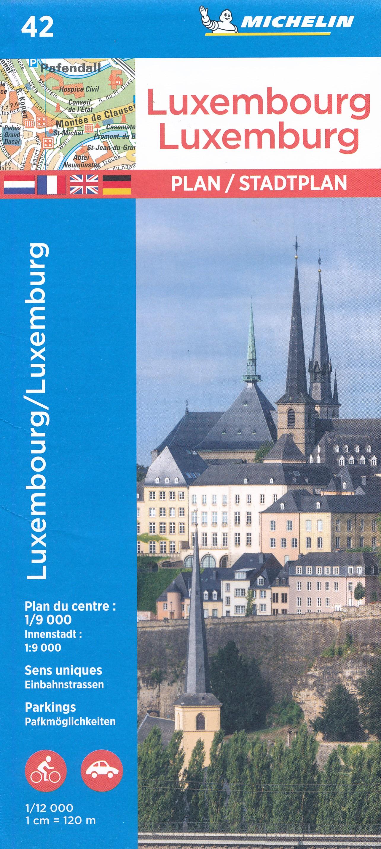 Stadsplattegrond 42 Luxembourg- Luxemburg stad | Michelin