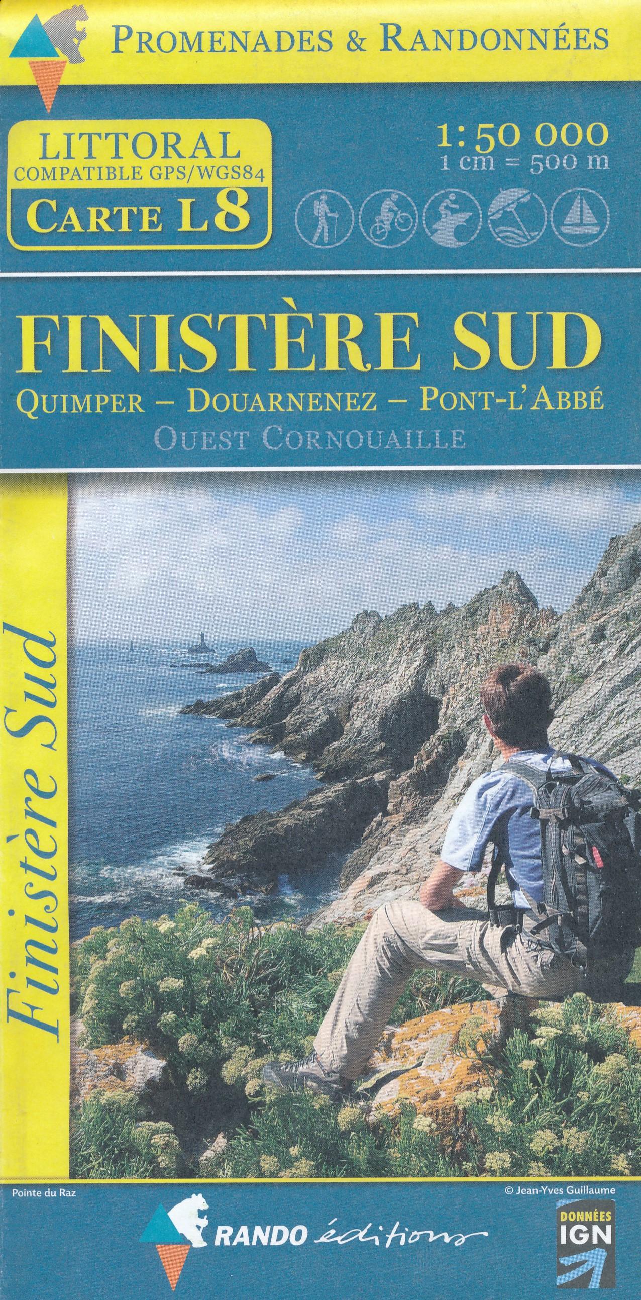Wandelkaart L8 Finistere Sud - Bretagne | IGN
